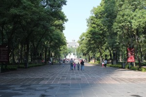 Chapultepec Park as seen from Paseo de la Reforma - Perfect Day in Mexico City