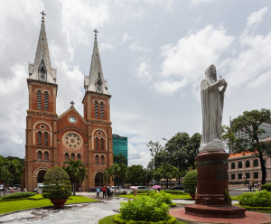 The Notre Dame Cathedral in Ho Chi Minh City